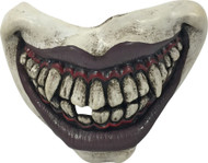 Joker Evil Clown Mouth Mouthpiece with elastic partial mask adult mens Halloween costume