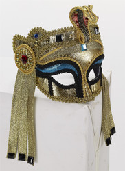 Deluxe Egyptian Mask with glasses cleopatra adult womens Halloween costume