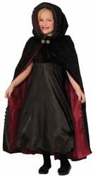 Gothic Vampiress Cape kids girls Halloween costume