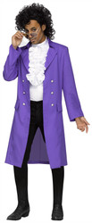 Rockin 80s Prince Purple Pain Rain Jacket Costume
