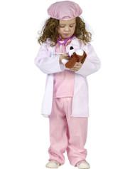 Little Pet Vet Pink Scrubs Toddler Costume