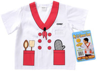My 1st Career Gear Head Chef Shirt Kids Dress Up Ages 3-5