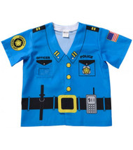 My 1st Career Gear Police Shirt Kids Dress Up Ages 3-5