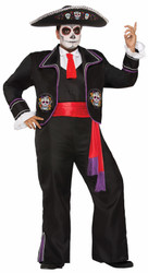 Day of the Dead Mariachi Man mens adult Halloween costume XL