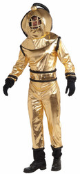 DEEP SEA DIVER nemo gold retro scuba dive adult leagues verne costume halloween