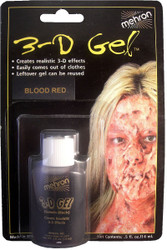 3D BLOOD GEL theatrical thick fake ooze makeup paint wounds fake effects .5oz