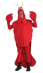 Crawfish Mardi Gras Costume Adult Men's One Size