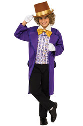 Willy Wonka kids boys Charlie Chocolate Factory costume
