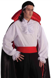 Ruffle White Shirt Colonial Vampire adult mens Halloween costume accessory