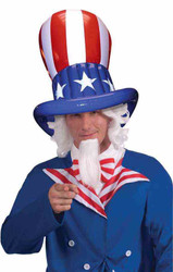 Uncle Sam Inflatable Hat Fourth of July America adult costume accessory
