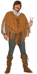 60s 70s Hippie Fringed Poncho adult womens mens Halloween costume