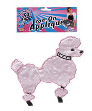 50's Pink Poodle Applique Halloween decades costume accessory