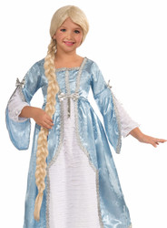 Rapunzel Blonde Child Braided Princess of the Tower Wig