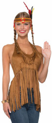 60s 70s Pocahontas Indian Fringed Hippie Halter Top adult womens Standard Size