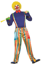 Carnival Clown circus adult womens mens Halloween costume Standard Size