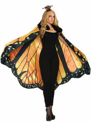 Monarch Butterfly Cape ONLY adult womens Halloween costume accessory