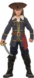 Captain Cutlass Pirates of the Carribean kids boys Halloween costume