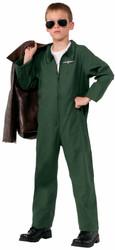 Air Force Jumpsuit Career Hero kids child boys Halloween Costume
