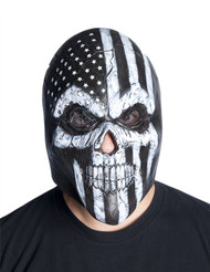 Skeleton skull America USA overhead latex mask