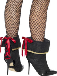 Pirate Boot Covers Womens Lace Up Costume Accessory