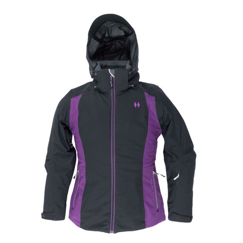 Womens's Fame Insulated Jacket - Black and Purple