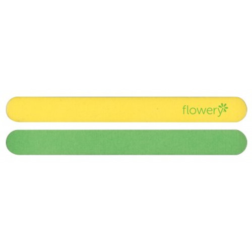 Flowery Lemon Lime Nail File Medium/Fine Grit For Thin Nails