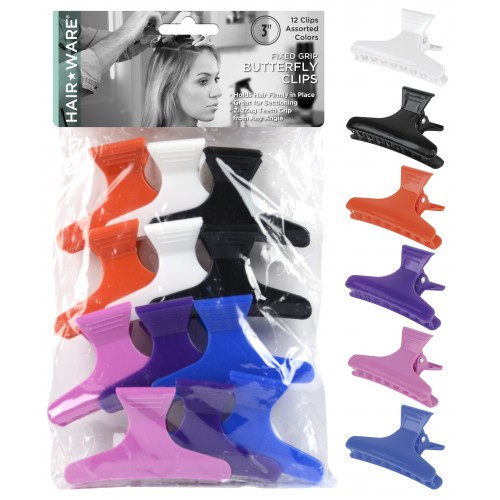 """HairWare 3"""" Fixed Grip Butterfly Clamps"""