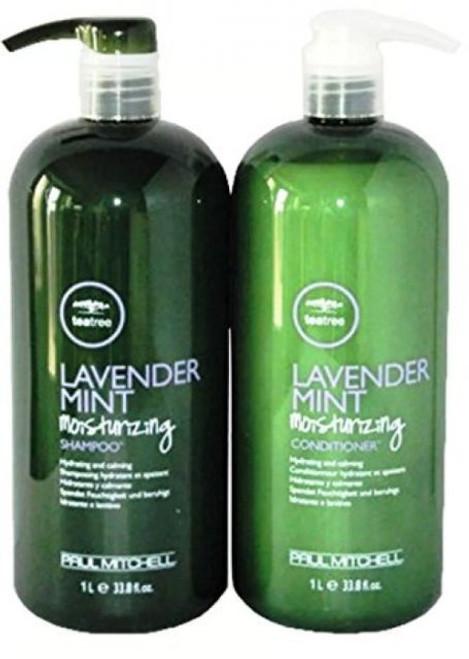 Paul Mitchell Tea Tree Lavender Mint Moisturizing Shampoo & Conditioner Liter Duo