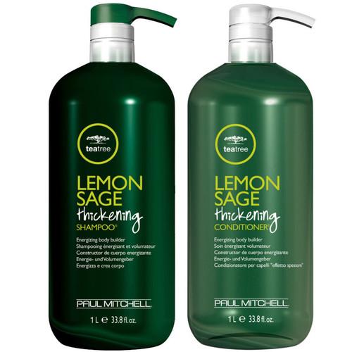 Paul Mitchell Tea Tree Lemon Sage Thickening Shampoo & Conditioner Liter Duo