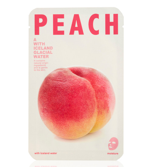 Mishe Peach with Iceland Glacial Water Moisture Face Mask