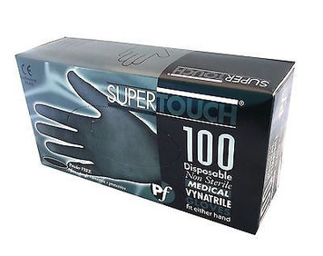 Black Vynatrile Latex Free Gloves