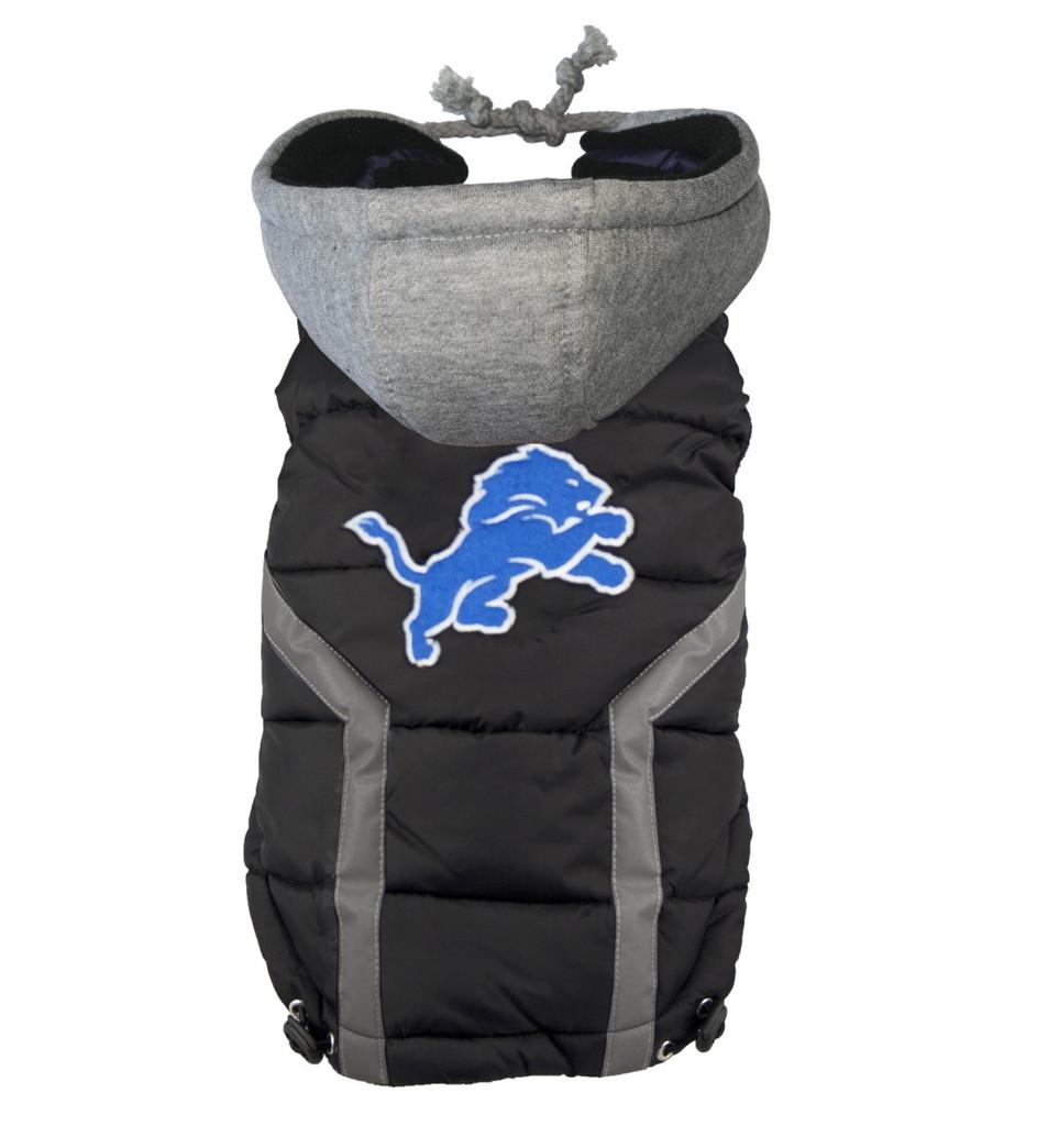Hip Doggie Detroit Lions Dog Puffer Vest