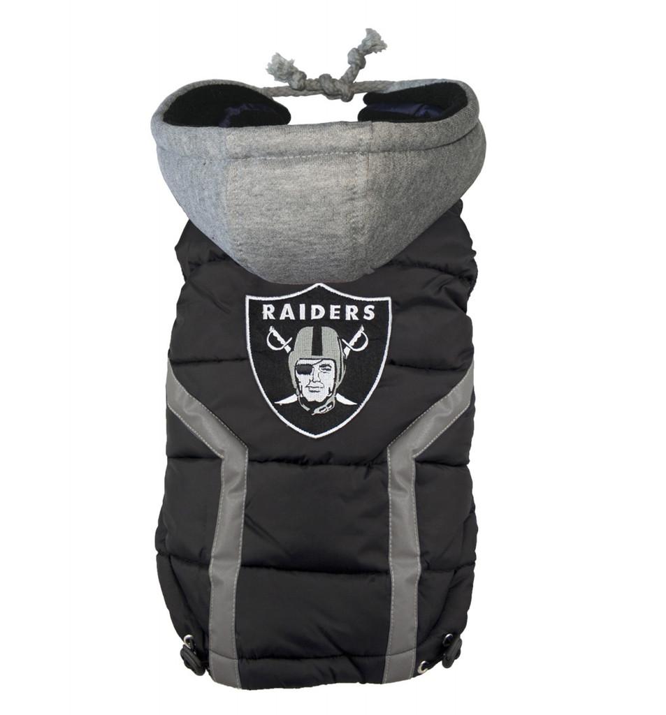 NFL Oakland Raiders Dog Puffer Vest