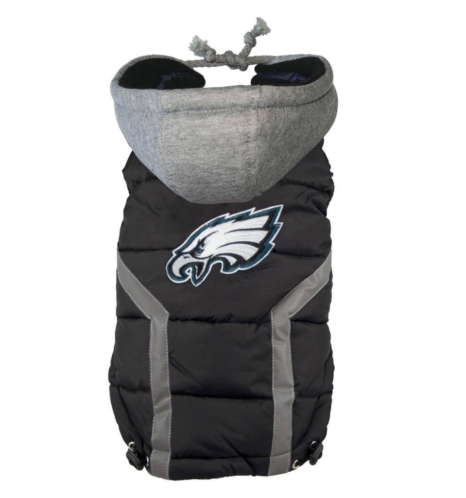 Hip Doggie Philadelphia Eagles Dog Puffer Vest