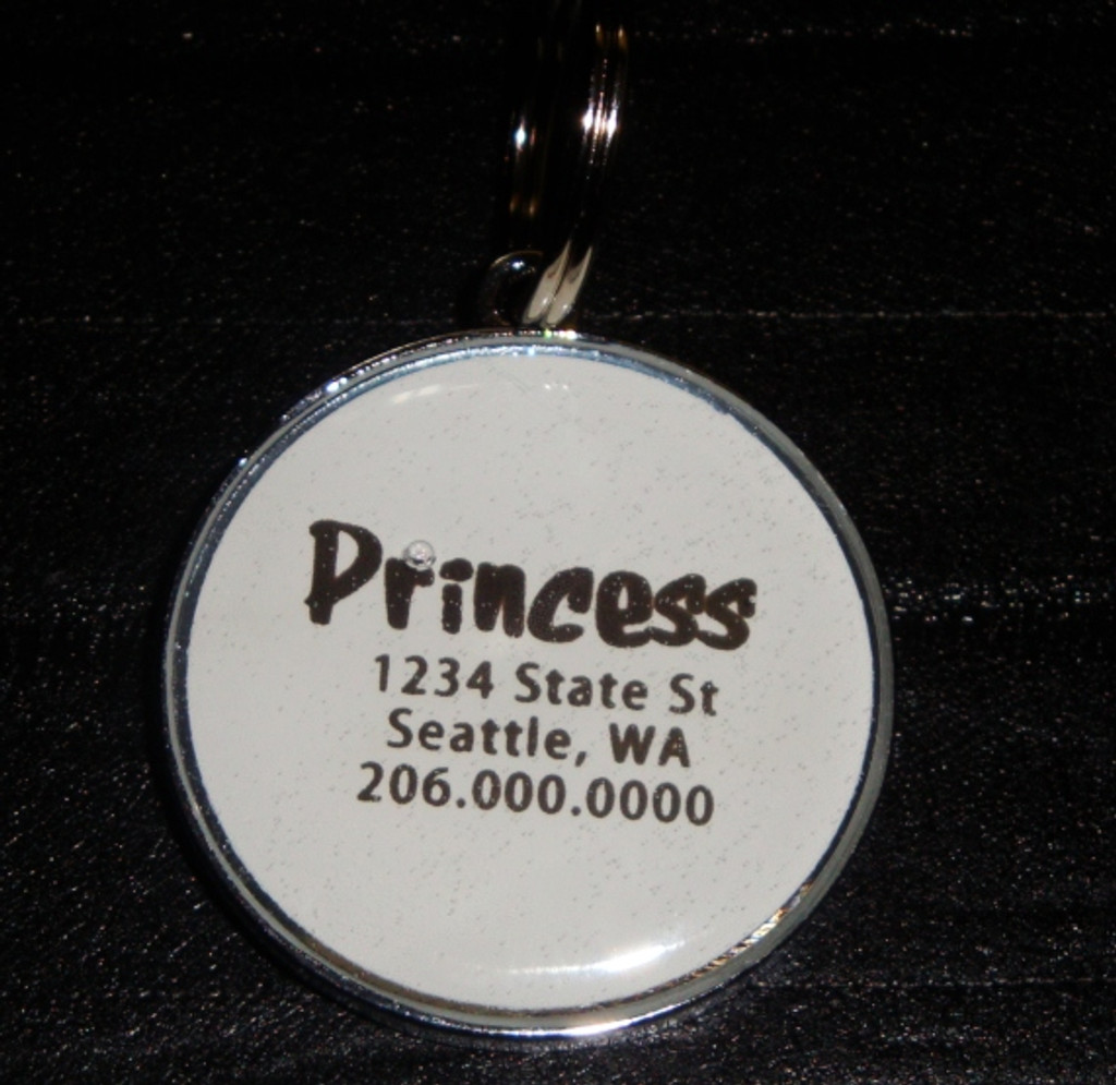 Asian Sprout Rhinestone Pet ID Tag
