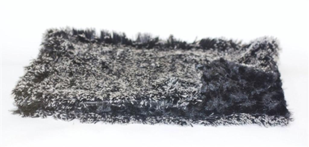 Black/White Puff Minkie Binkie Blanket