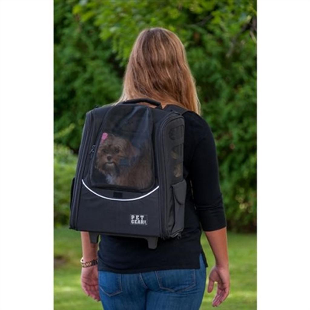I-GO2 Traveler Dog Roller-Backpack - Black