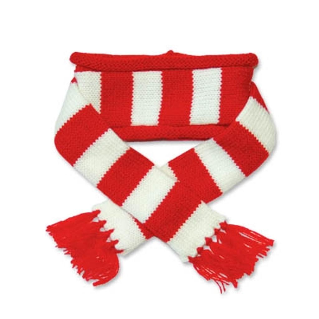 Red Urban Stripe Scarf