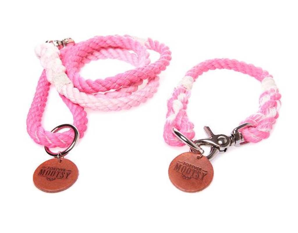 Petal Pink Ombré Dog Collar