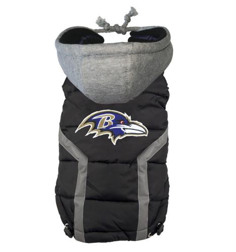 Hip Doggie Baltimore Ravens Dog Puffer Vest