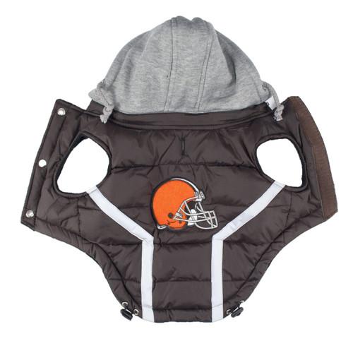 Hip Doggie Cleveland Browns Dog Puffer Vest