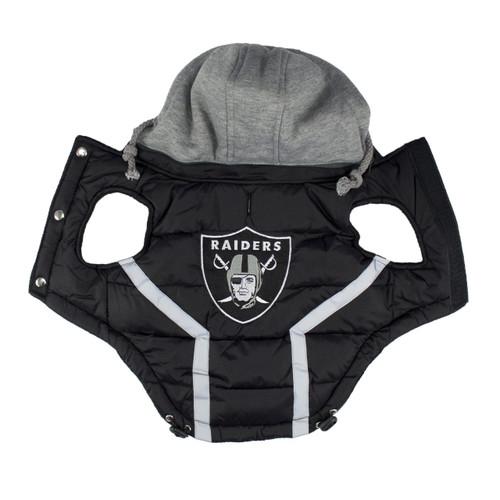 Hip Doggie Oakland Raiders Dog Puffer Vest