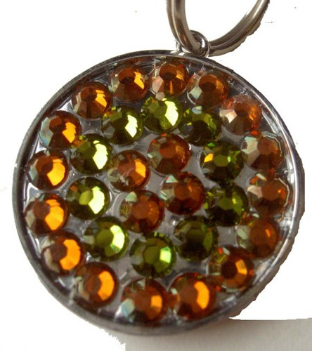 Copper and Olivine Pet ID Tag