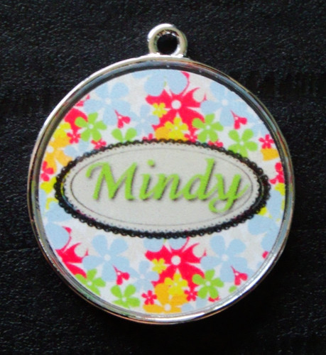 Sophie Green Floral Pet ID Tag w/ Pet's Name