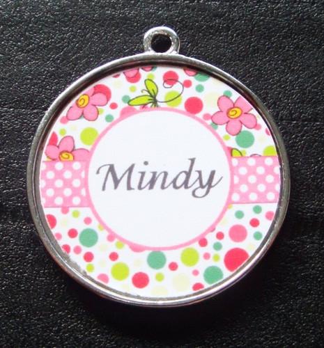 Light Pink Bubblegum Dot Pet ID Tag w/ Pet's Name
