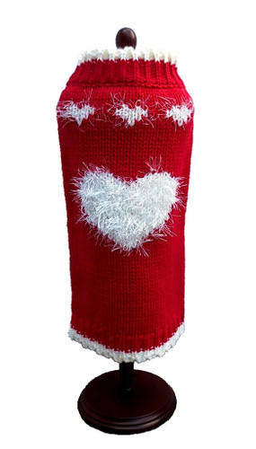 Sweetheart Red Dog Sweater Dress
