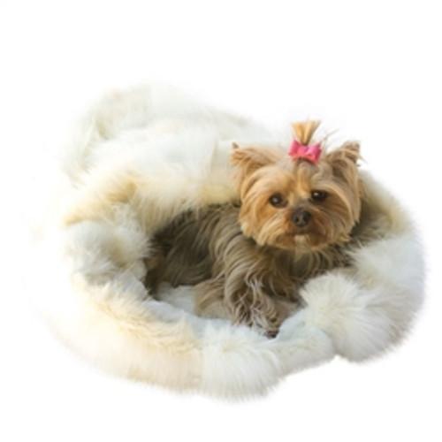 Arctic Fox Plush Cozy Dog Sak