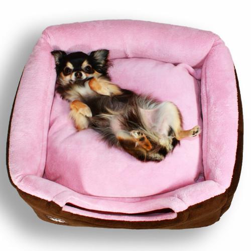 Deluxe Single Door Pop Tent Bed - Pink