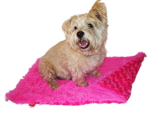 Hot Pink Powder Puff Minkie Binkie Blanket