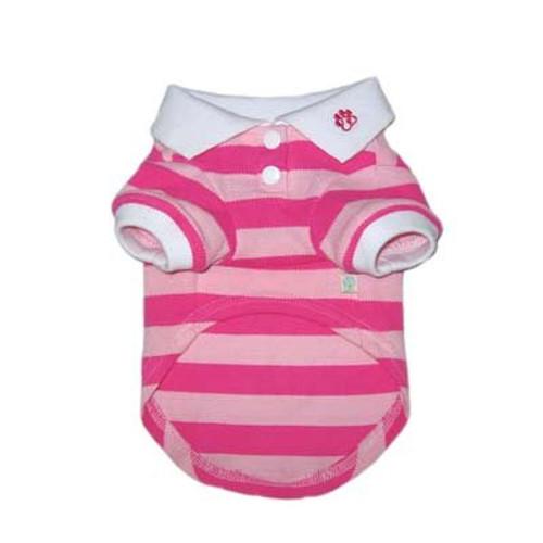 Stripe Polo Shirt Pink